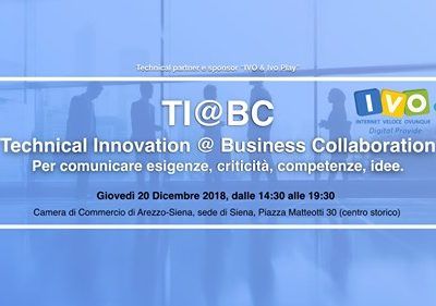 Prima edizione del TI@BC. TECHNICAL INNOVATION@BUSINESS COLLABORATION